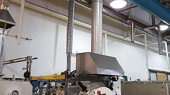 פתרונות יניקה מתנורים תעשייתיים